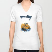 rothko V-neck T-shirts featuring Wall-E and Rothko by Renee Bolinger