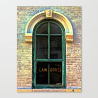 law Canvas Prints featuring Law Office by Biff Rendar
