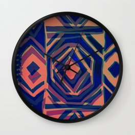 ndebele blue Wall Clock