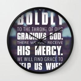 Hebrews 4:16 Wall Clock