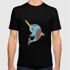 The Narwhal Mens Fitted Tee MEDIUM Black