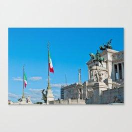 Equestrian Monument to Victor Emmanuel II Canvas Print