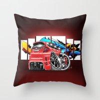 honda Throw Pillows featuring Honda fit by Xr1s