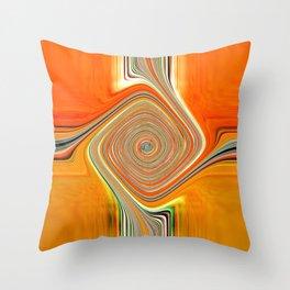 Abstract.Orange+Lemon. Throw Pillow