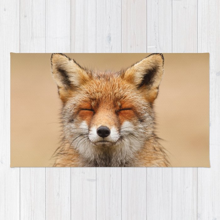 Zen Fox (Red Fox smiling) Rug