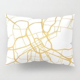 NASHVILLE TENNESSEE CITY STREET MAP ART Pillow Sham