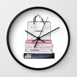 purse and book Wall Clock
