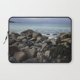 Waves Crashing on Seaweed Covered Rocks Laptop Sleeve