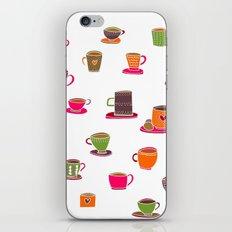 Coffee Cup Green & Orange iPhone & iPod Skin