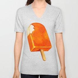 Popsicle Pattern - Creamsicle Unisex V-Neck