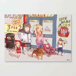 The Chav Family Outing Canvas Print
