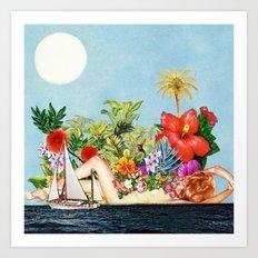 Siren Island Art Print
