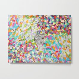 Pattern x Dog  Metal Print