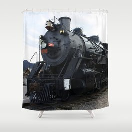 Vintage Railroad Steam Train Shower Curtain