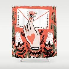 Love Letter Shower Curtain