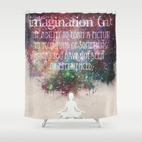 imagination Shower Curtains featuring Imagination by Jenndalyn