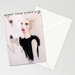 Supergirls Don`t Cry Stationery Cards