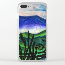 Vermont Mountains Clear iPhone Case