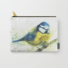 Watercolor titmouse bird Carry-All Pouch