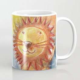 Lion For Children Pastel Chalk Drawing Coffee Mug