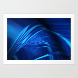 Dark Blue Abstraction Art Print