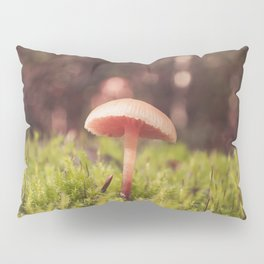 Forest of Moss and Mushroom Pillow Sham