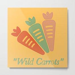 """Wild Carrots"" Metal Print"