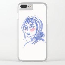 A Geek Girl Clear iPhone Case