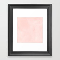 Seashell Pink Watercolor Framed Art Print