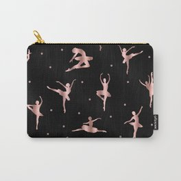 Rose Gold Ballet Positions Carry-All Pouch