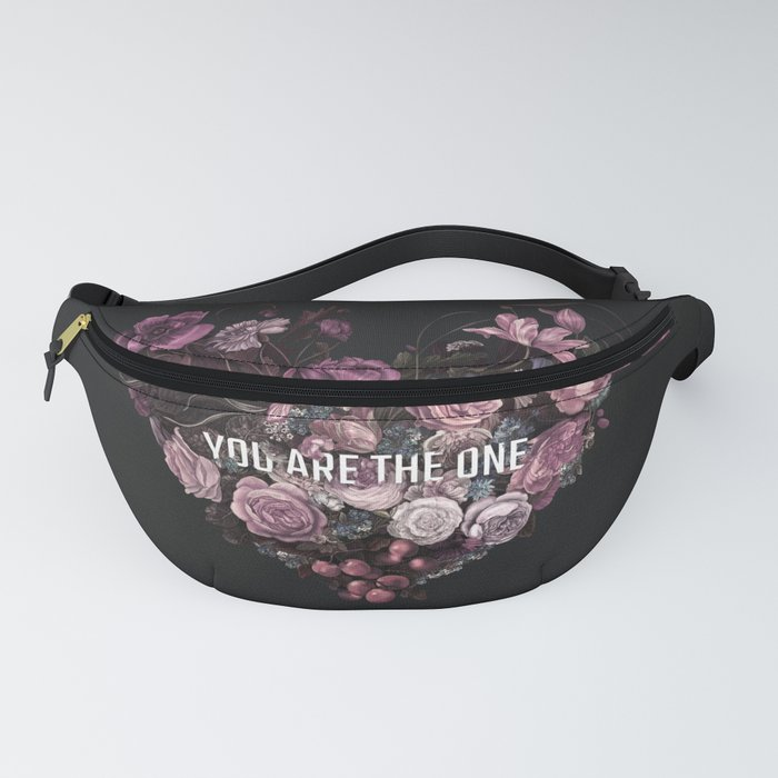 You Are The One // Floral Valentine's Heart Fanny Pack