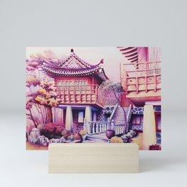 Teahouse Mini Art Print