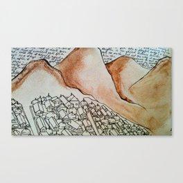Yurt Village Canvas Print