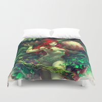 poison ivy Duvet Covers featuring Poison Ivy by Hai-ning