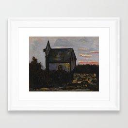 Marsden Hartley 1877 - 1943 CHURCH BY THE BARRENS, INDIAN HARBOR, MAINE Framed Art Print