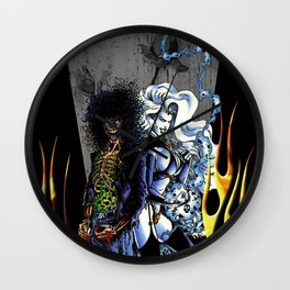 Unhappily Ever After - Lady Death & Evil Ernie Wall Clock