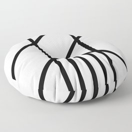 Bold Deco Floor Pillow