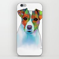 jack russell iPhone & iPod Skins featuring Jack Russell Dog by Marlene Watson
