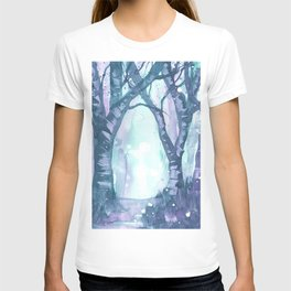 Spotted Forest Watercolor Painting  T-shirt