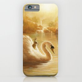 Isabella and the Swan iPhone Case