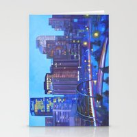 denver Stationery Cards featuring Denver Skyline by Jeannette Stutzman