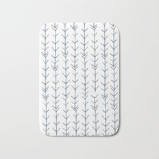 Twigs and branches freeform gray Bath Mat