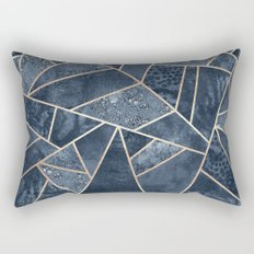 Soft Dark Blue Stone Rectangular Pillow