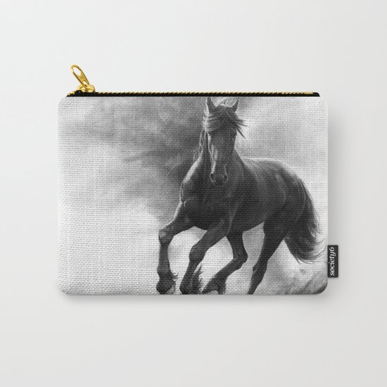 Horse in Storm - GRAPHITE DRAWING Carry-All Pouch