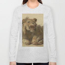 Cornelis Saftleven - A Lion Snarling Long Sleeve T-shirt