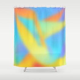 pastel shades of rainbow Shower Curtain