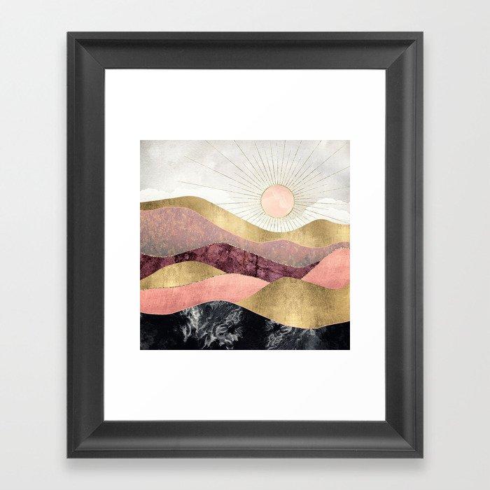 Blush Sun Gerahmter Kunstdruck