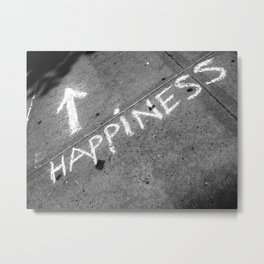 ⬆ Happiness Metal Print