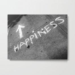 ⬆ Happiness Metal Print