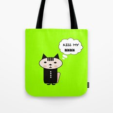 Lime cat Tote Bag